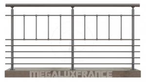 Balustrade en aluminium modèle AJACCIO